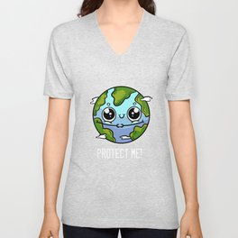Earth Nature Climate Environmentalist Or Nature Lover Gift Unisex V-Neck