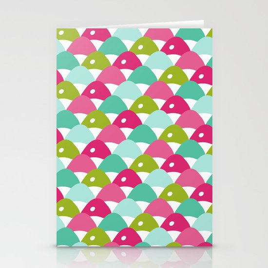 Fishy Scales Chevron Stationery Cards