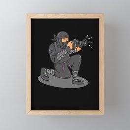 Ninja Photographer Framed Mini Art Print