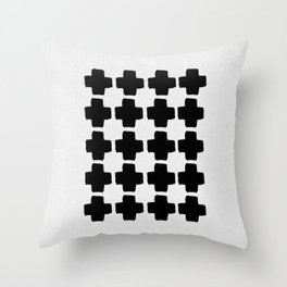 Black and White Abstract III Throw Pillow