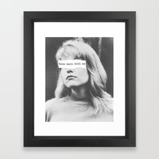 Fire Walk With Me Framed Art Print