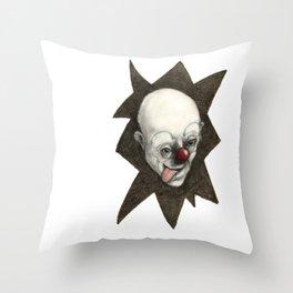 Clown numb12r Throw Pillow