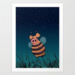 Bumblepig Art Print