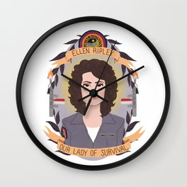 Ellen Ripley Wall Clock