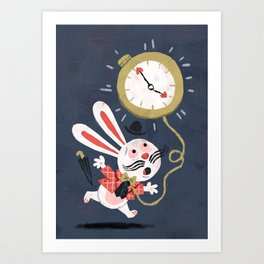 White Rabbit - Alice in Wonderland Art Print