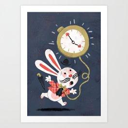 White Rabbit - Alice in Wonderland Art Print