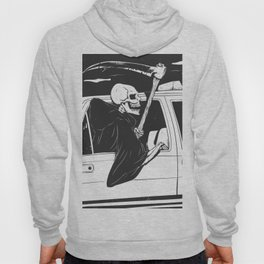 Passenger taxi grim - black and white - gothic reaper Hoody