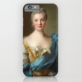 Madam de La Porte Portrait by Jean - Marc Nattier iPhone Case