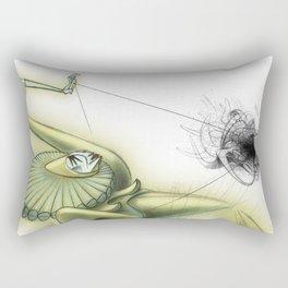 De los vuelos   Of flights { n°_ 004 } Rectangular Pillow
