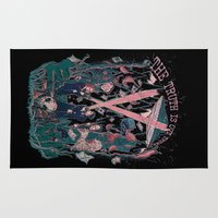 scully Area & Throw Rugs featuring Out There by Taylor Rose