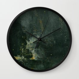 James Abbott McNeill Whistler - Nocturne in Black and Gold Wall Clock