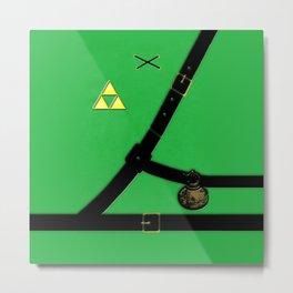 Zelda Suit Metal Print