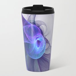 The Curious, Abstract Fractal Art Travel Mug