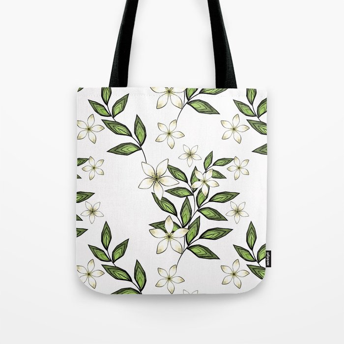 White flowers. Tote Bag