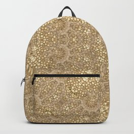 Ornate Golden Baroque Design Backpack