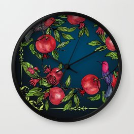 Pomegranate Luxury Wall Clock