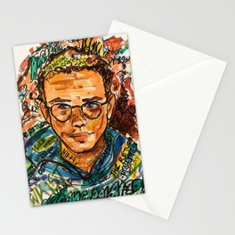 rapper,colourful,colorful,poster,wall art,fan art,music,hiphop,rap,logicc,lyric Stationery Cards