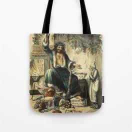 Scrooges third visitor-John Leech Tote Bag