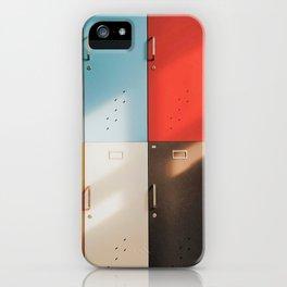 Retro Lockers iPhone Case
