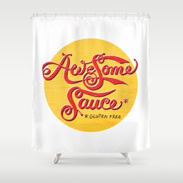 Awesome Sauce (gold) Shower Curtain