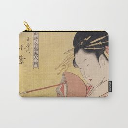 Japanese Woodcut Carry-All Pouch