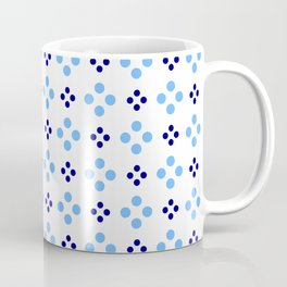 new polka dot 107 dark and light blue Coffee Mug