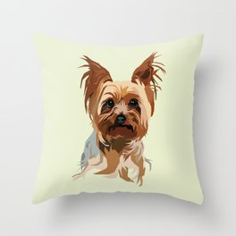 It's A Yorkie Throw Pillow