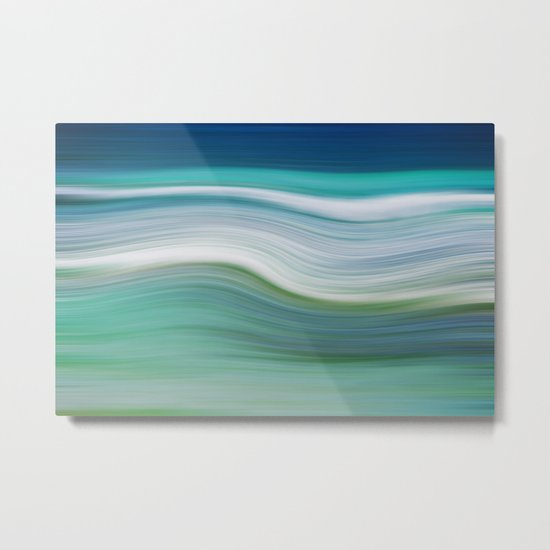 OCEAN ABSTRACT Metal Print