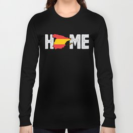 Home Spain Spanish Flag Native Country Long Sleeve T-shirt
