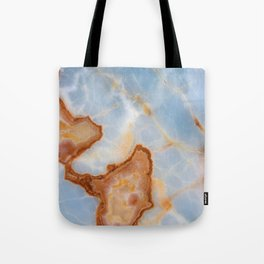 Baby Blue Marble with Rusty Veining Tote Bag