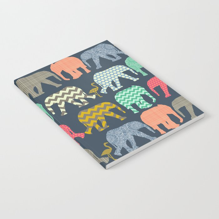baby elephants and flamingos Notebook
