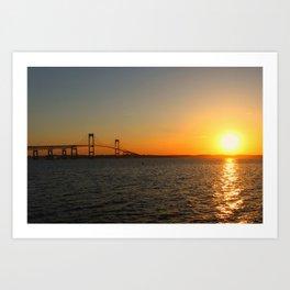 Sunset in Newport, RI  Art Print