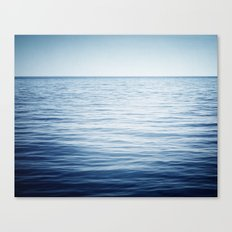 Blue Ocean Seascape, Dark Blue Sea Landscape Photography, Ocean Horizon Canvas Print