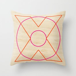 X and O Throw Pillow
