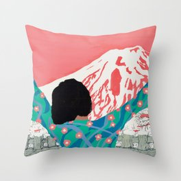 Coach Daydream Japan Mount Fuji Throw Pillow