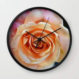 A gorgeous rose in full bloom Wall Clock