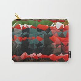 Red Green Quilted Pattern Design Carry-All Pouch