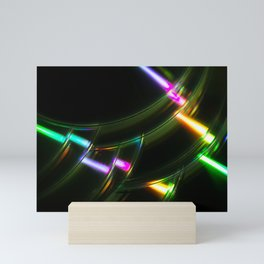 Stack of Compact Discs Abstract Mini Art Print