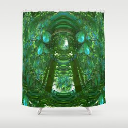 Abstract Gazebo Shower Curtain