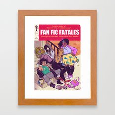 Pulp Novel Framed Art Print