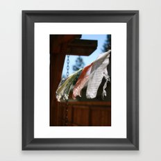 Flags. Framed Art Print