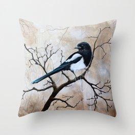Promise - Magpie Throw Pillow