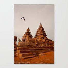 Indian Shore Temple Canvas Print