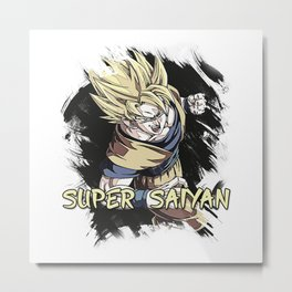 GOKU - Super Saiyan Metal Print