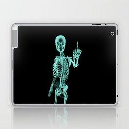 X-ray Bird / X-rayed skeleton demonstrating international hand gesture Laptop & iPad Skin