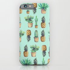 cactus and pineapples blue  iPhone 6s Slim Case