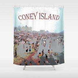 Coney Island Shower Curtain