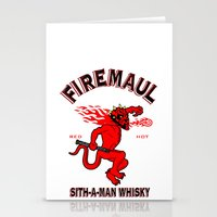 whisky Stationery Cards featuring Firemaul Whisky by Ant Atomic