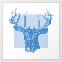 cervo blue Art Print