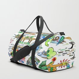 watercolor doodle Duffle Bag